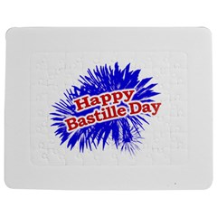Happy Bastille Day Graphic Logo Jigsaw Puzzle Photo Stand (Rectangular)