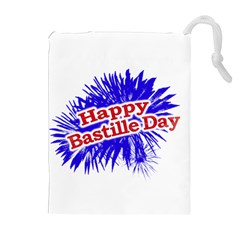 Happy Bastille Day Graphic Logo Drawstring Pouches (Extra Large)