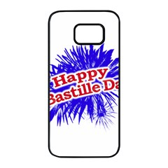 Happy Bastille Day Graphic Logo Samsung Galaxy S7 edge Black Seamless Case