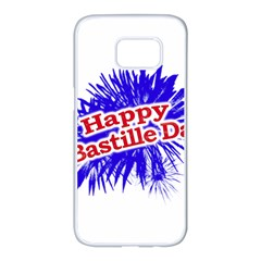 Happy Bastille Day Graphic Logo Samsung Galaxy S7 edge White Seamless Case