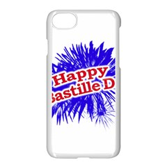 Happy Bastille Day Graphic Logo Apple iPhone 7 Seamless Case (White)