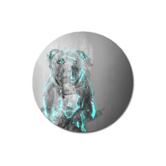 Dog Magnet 3  (Round)