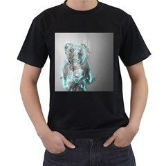 Dog Men s T-Shirt (Black) (Two Sided)