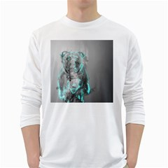 Dog White Long Sleeve T-Shirts