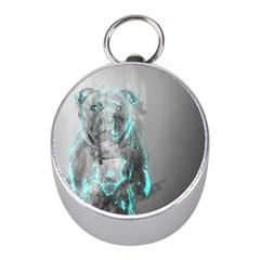 Dog Mini Silver Compasses