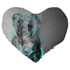 Dog Large 19  Premium Flano Heart Shape Cushions
