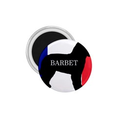 Barbet Name Silhouette on flag 1.75  Magnets