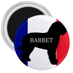 Barbet Name Silhouette on flag 3  Magnets