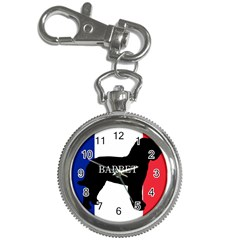 Barbet Name Silhouette on flag Key Chain Watches