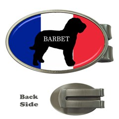 Barbet Name Silhouette on flag Money Clips (Oval)