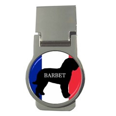 Barbet Name Silhouette on flag Money Clips (Round)