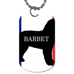 Barbet Name Silhouette on flag Dog Tag (Two Sides)