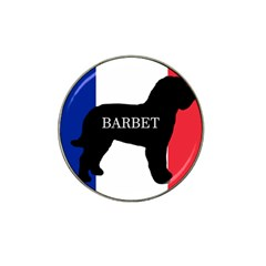 Barbet Name Silhouette on flag Hat Clip Ball Marker (10 pack)