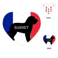 Barbet Name Silhouette on flag Playing Cards (Heart)