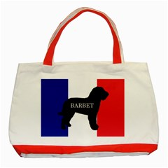 Barbet Name Silhouette on flag Classic Tote Bag (Red)
