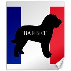 Barbet Name Silhouette on flag Canvas 20  x 24