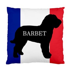 Barbet Name Silhouette on flag Standard Cushion Case (Two Sides)