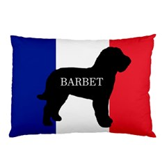 Barbet Name Silhouette on flag Pillow Case