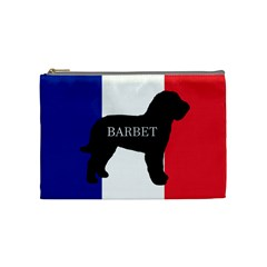 Barbet Name Silhouette on flag Cosmetic Bag (Medium)