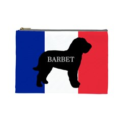 Barbet Name Silhouette On Flag Cosmetic Bag (large)