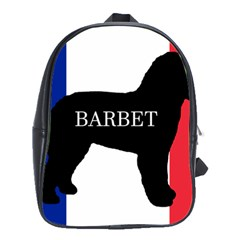 Barbet Name Silhouette on flag School Bags(Large)