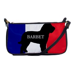 Barbet Name Silhouette on flag Shoulder Clutch Bags