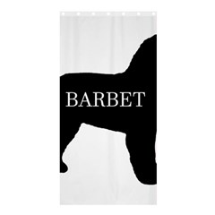Barbet Name Silhouette on flag Shower Curtain 36  x 72  (Stall)