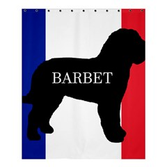 Barbet Name Silhouette on flag Shower Curtain 60  x 72  (Medium)