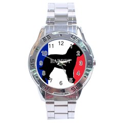 Barbet Name Silhouette on flag Stainless Steel Analogue Watch