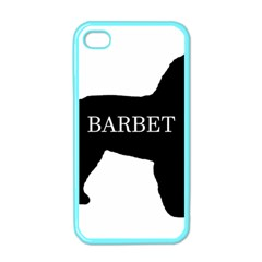 Barbet Name Silhouette on flag Apple iPhone 4 Case (Color)