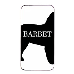 Barbet Name Silhouette on flag Apple iPhone 4/4s Seamless Case (Black)