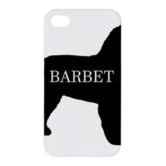 Barbet Name Silhouette on flag Apple iPhone 4/4S Hardshell Case