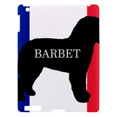 Barbet Name Silhouette on flag Apple iPad 3/4 Hardshell Case