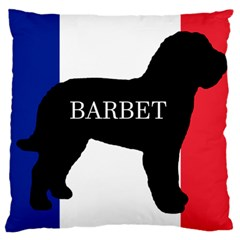 Barbet Name Silhouette on flag Large Cushion Case (Two Sides)