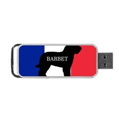 Barbet Name Silhouette on flag Portable USB Flash (One Side)