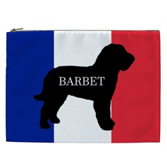 Barbet Name Silhouette on flag Cosmetic Bag (XXL)