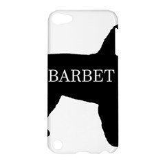 Barbet Name Silhouette on flag Apple iPod Touch 5 Hardshell Case