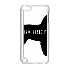 Barbet Name Silhouette on flag Apple iPod Touch 5 Case (White)
