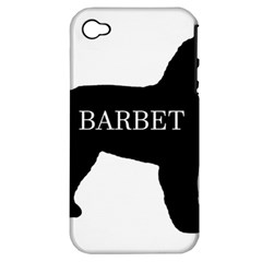 Barbet Name Silhouette on flag Apple iPhone 4/4S Hardshell Case (PC+Silicone)