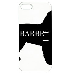 Barbet Name Silhouette on flag Apple iPhone 5 Hardshell Case with Stand