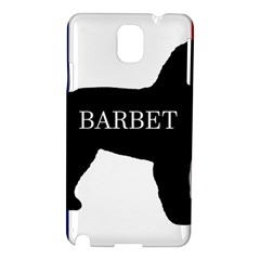 Barbet Name Silhouette on flag Samsung Galaxy Note 3 N9005 Hardshell Case