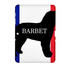 Barbet Name Silhouette on flag Samsung Galaxy Tab 2 (10.1 ) P5100 Hardshell Case