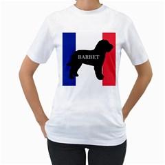 Barbet Name Silhouette on flag Women s T-Shirt (White)