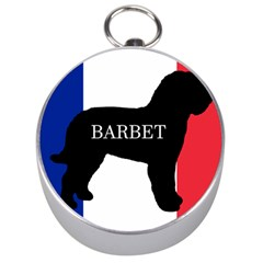 Barbet Name Silhouette on flag Silver Compasses