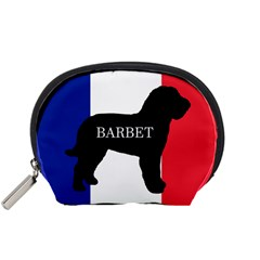 Barbet Name Silhouette on flag Accessory Pouches (Small)