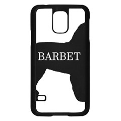Barbet Name Silhouette on flag Samsung Galaxy S5 Case (Black)