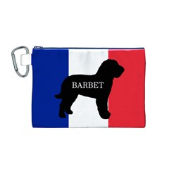 Barbet Name Silhouette on flag Canvas Cosmetic Bag (M)
