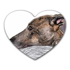 Greyhound Heart Mousepads