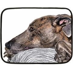 Greyhound Double Sided Fleece Blanket (Mini)