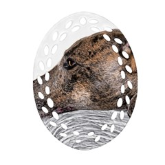 Greyhound Ornament (Oval Filigree)